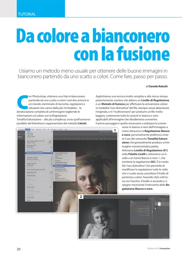 tutorial come fare bianco e nero con Photoshop