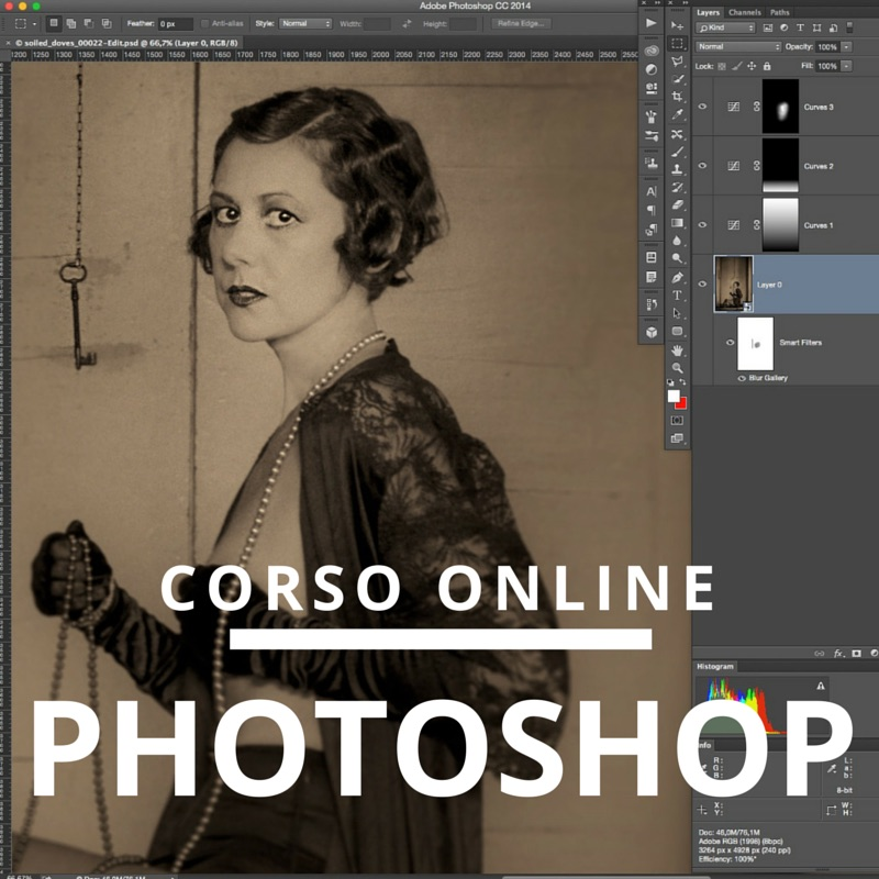 corso photoshop online in internet